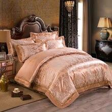 Благородный Европейский стиль наборы постельных принадлежностей ретро калико печати шелк жаккард хлопок Королева/King size простыни наборы простыни