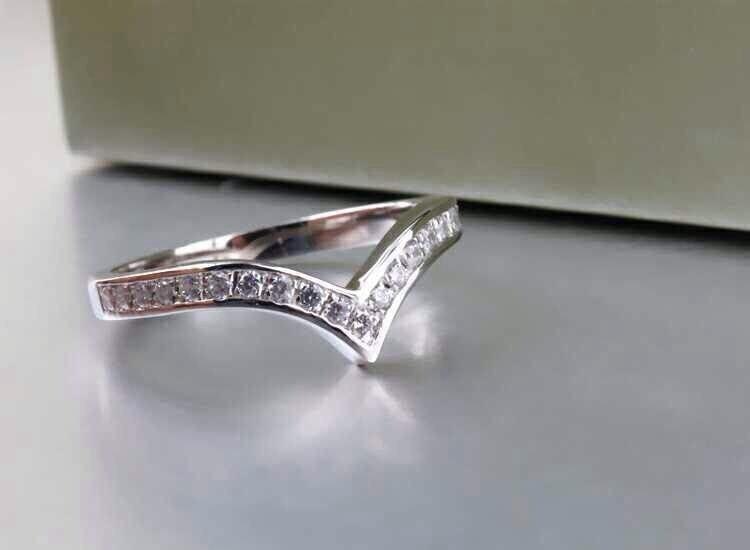 THREEMAN Amazing Gift for Girlfriend Solid White Gold 585