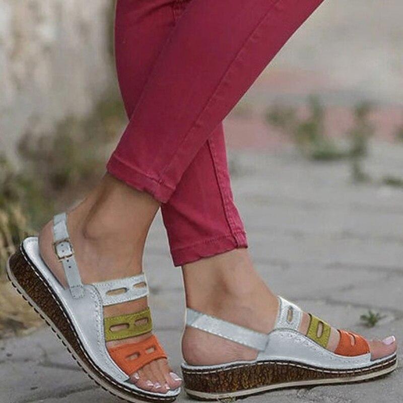 HEFLASHOR Wedges Shoes Platform Sandals High-Heels Femme Women Flip Casual Summer Flop