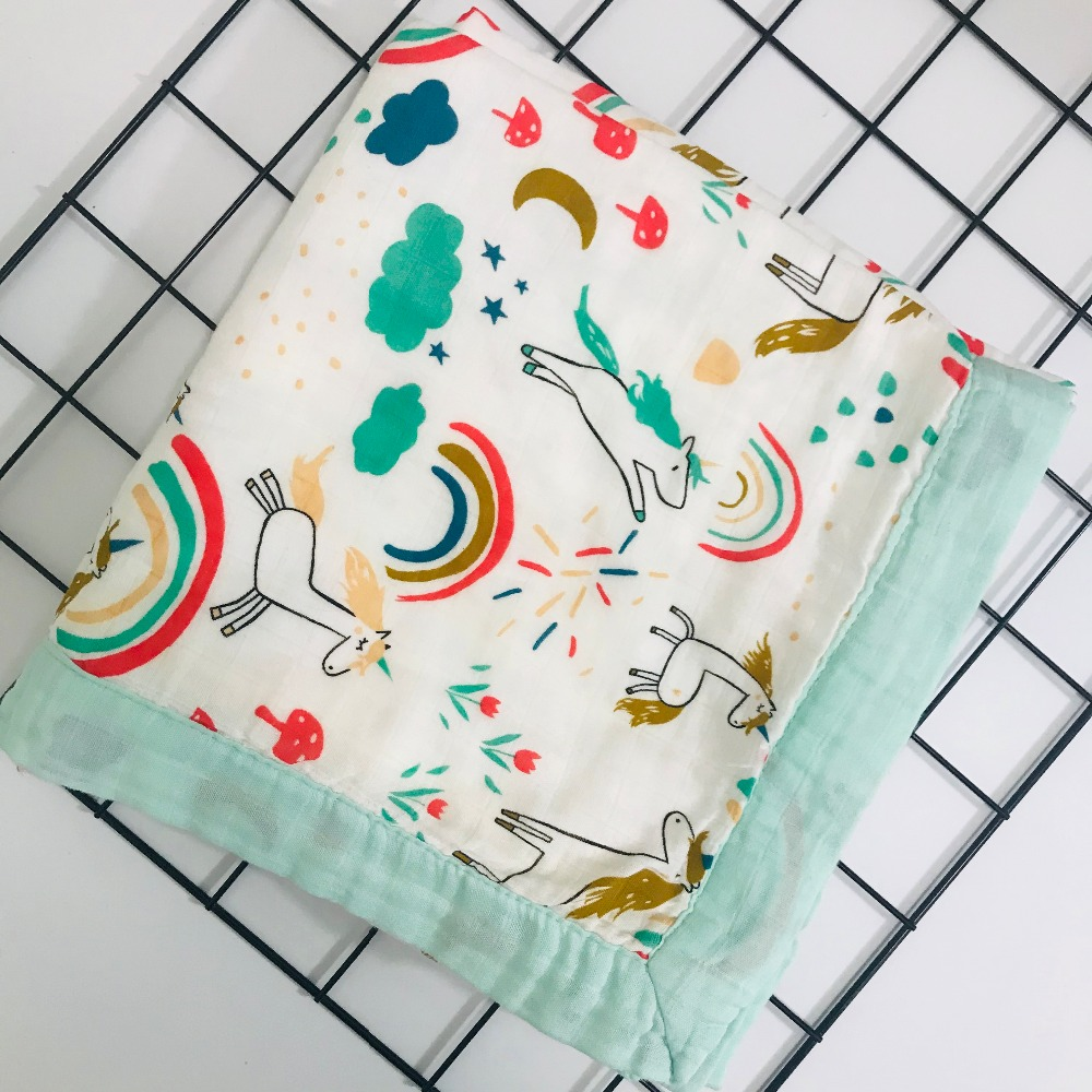 Suchi Quilt Four Layer Bamboo Baby Muslin Blanket  Karitree Swaddle Better Than Anais Baby/bamboo Blanket Infant Wrap