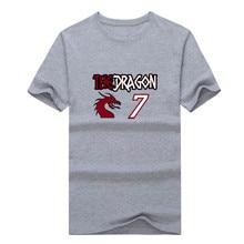 "2017 Goran Dragic Miami  The Dragon""  T-shirt 100% cotton 12 short sleeve 7 T shirt 0113-16"
