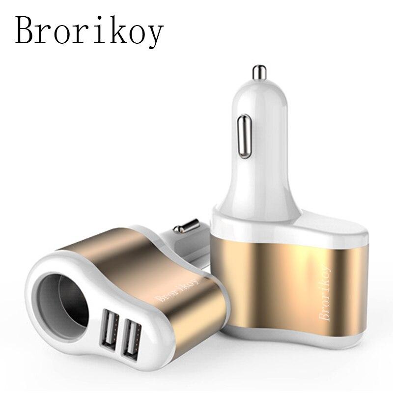 Brorikoy Cargador de coche para iPhone 6 iPad 2 puertos USB Cargador - Accesorios y repuestos para celulares - foto 1