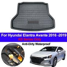 Tapis de sol pour Hyundai Elantra Avante 2016 2017 2018, tapis Anti-salissure pour coffre arrière de voiture