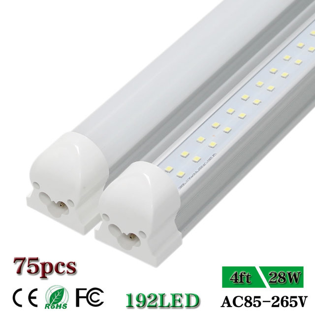 4ft Led Shop Light >> Us 642 02 6 Off Cnsunway 4 Ft Led Tube Lights T8 Integrated Double Row 48 1200mm 4ft Led Shop Light Bulb Fluorescent Cold White 28w Ac85 265v In