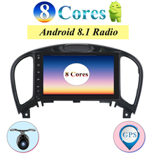 """Octa Core 8 """"IPS Screen In Dash 2 Din Android 8.1 Car Stereo GPS Per Nissan Juke Auto Radio FM RDS WiFi BT Fotocamera di Navigazione"""