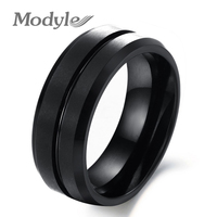 Wholesale New Europe And America Fashion Men Jewelry Black Pure Tungsten Steel Rings Classic Personality Ring