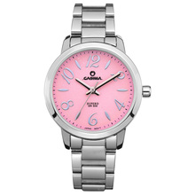 Luxury brand watches women Fashion Casual Simple Crystal quartz  pink stainless steel Wrist watch waterproof  CASIMA #2901