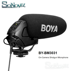 BOYA BY-BM3031 On Camera Condenser Microphone for DSLR Nikon Canon Video Camera Audio Recorder 1/4 Screw 3.5mm Jack Mic for Live