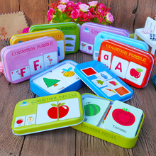 New Arrival Baby Toys Infant Early Head Start Training Puzzle Cognitive Card Vehicl/Fruit/Animal/Life Set Pair Gift