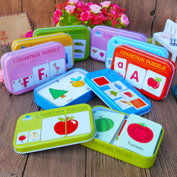цена New Arrival Baby Toys Infant Early Head Start Training Puzzle Cognitive Card Vehicl/Fruit/Animal/Life Set Pair Puzzle Baby Gift онлайн в 2017 году