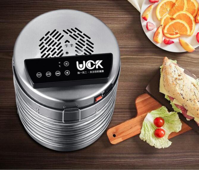 Температура контроль времени нержавеющая сталь фрукты осушитель машина сушилка для фруктов овощи еда процессор сушки рыбы
