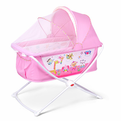 цены  Cradle crib newborn baby rocking bed BB multi-function folding confining beds with mosquito nets game children bed