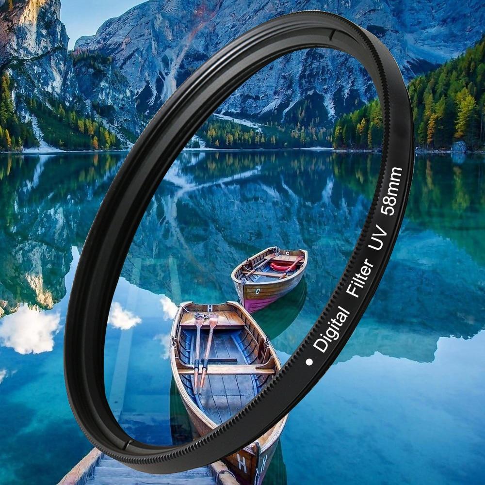 37 40,5 43 46 49 52 55 58 62 67 72 77 82mm lente UV Filtro Digital lente Protector para canon nikon DSLR SLR Cámara paquete de muestra