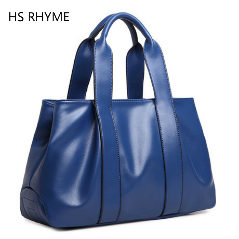 HS RHYME  Large Capacity Tote Bags for Women High Quality PU Leather Female Top Handbags  Fashion Lady  Messenger Bag fashion women handbags with two straps high quality pu leather top handle tote bag female large capacity shoulder messenger bags