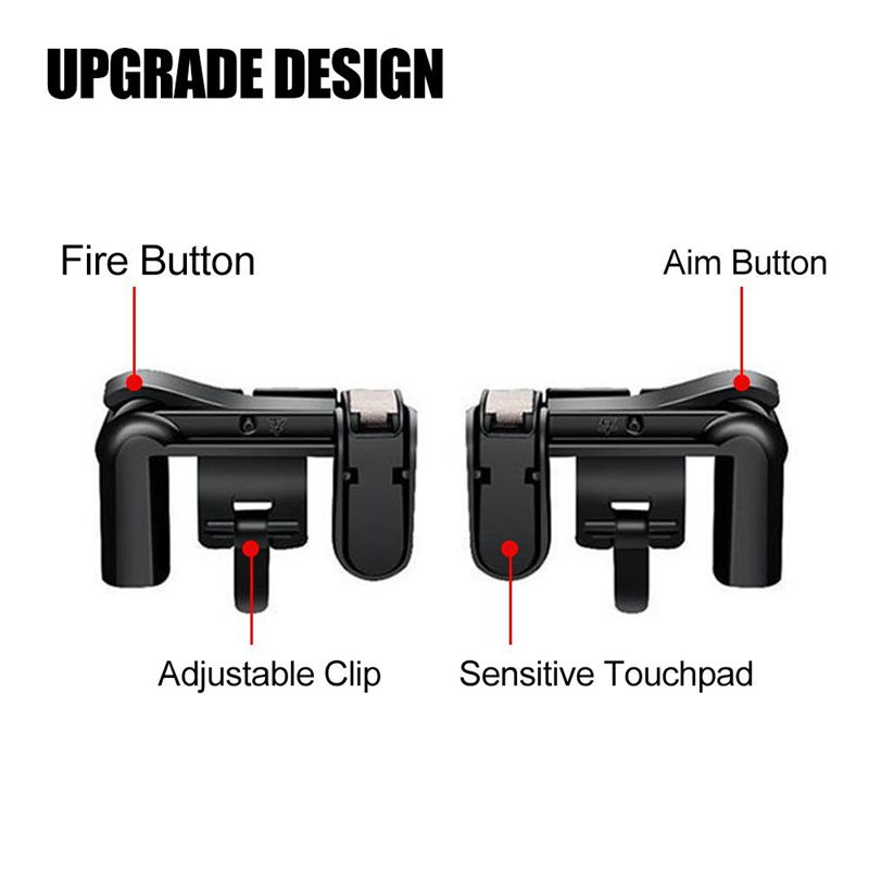 Mobile Game Controller Newest Version Sensitive Shoot and Aim Buttons L1R1 for PUBG Knives Out Rules of Survival Game Joystic in Gamepads from Consumer Electronics