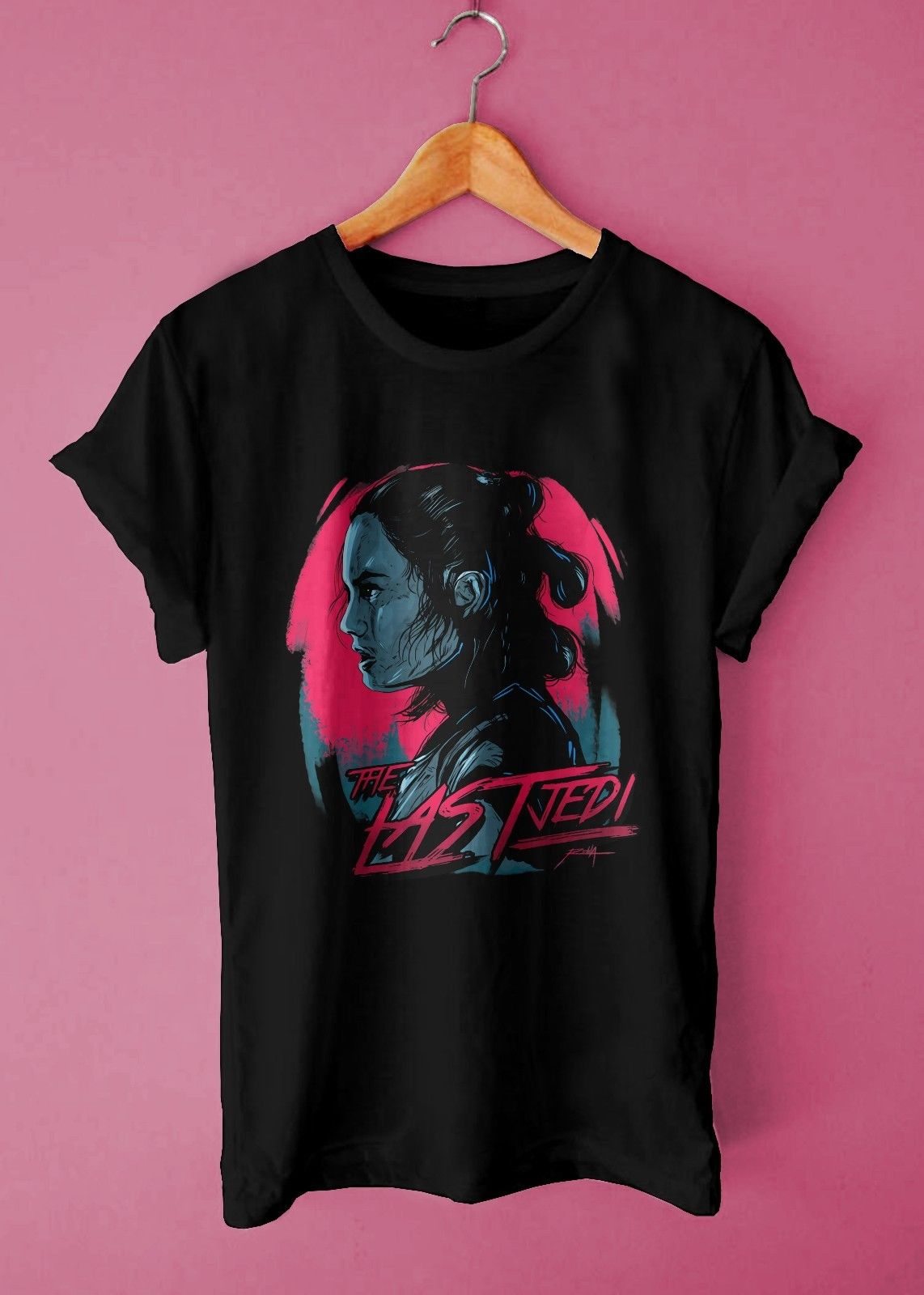 Star Wars Rey Retro Neon Style Pop Movie Cool Casual Street Wear Unisex T Shirt Free shipping Harajuku Tops Classic Unique in T Shirts from Men 39 s Clothing