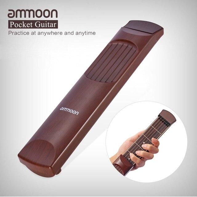ammoon Portable Acoustic Pocket Guitar Practice Tool Gadget Chord ...