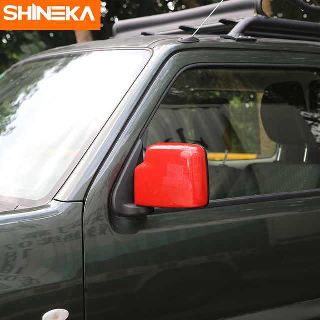 SHINEKA High Quality Car Rearview Mirror Cover Car Accessories for Suziki Jimny 2007+