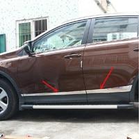 For Toyota RAV4 RAV 4 2014 2015 2016 Car Styling Side Door Mouldings Stainless Steel Side Door Body Trim Cover Stickers