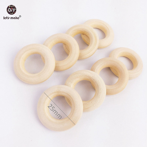 Image 4 - Lets Make 200pc 25mm Maple Wooden Ring Food Grade Wood Teether Childrens Jewelry DIY Crafts Accessories Nursing Pendant