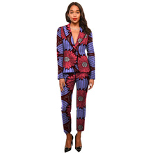 Ankara suits fashion African print women blazers with trousers set