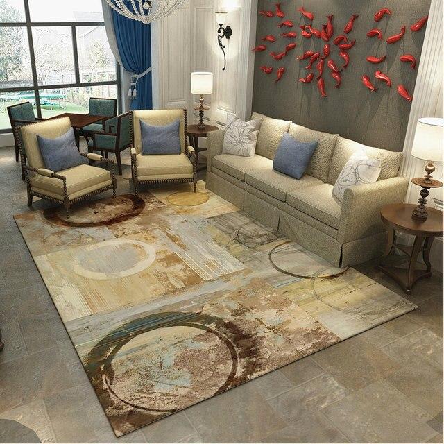 Europa Tapetes Para Sala de estar Quarto Decorativo Tapete Grande Mesa de Café Sofá Tapete Tapetes E Carpetes de Estudo Moderno Personalizado