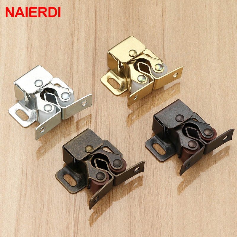NAIERDI 2PCS Magnet Cabinet Catches Door Stop Closer Stoppers Damper Buffer For Wardrobe Hardware Furniture Fittings