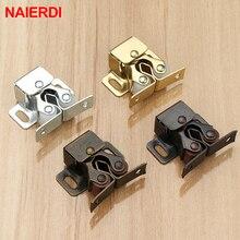 NAIERDI 2PCS Magnet Cabinet Catches Door Stop Closer Stoppers Damper Buffer For Wardrobe Hardware Furniture Fittings цены