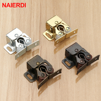NAIERDI 2PCS Magnet Cabinet Catches Door Stop Closer Stoppers Damper Buffer With Screws For Wardrobe Hardware Furniture Fittings