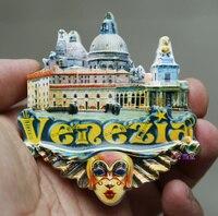 Италия город Венеция Милан Fontana di Trevi ручной смолы Магнит На Холодильник