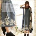 Mori Girl Robe Femme Cute Style 2016 Women Spring Autumn Cotton Embroidery Sleeveless Lolita Breathable Elegant Dress C257