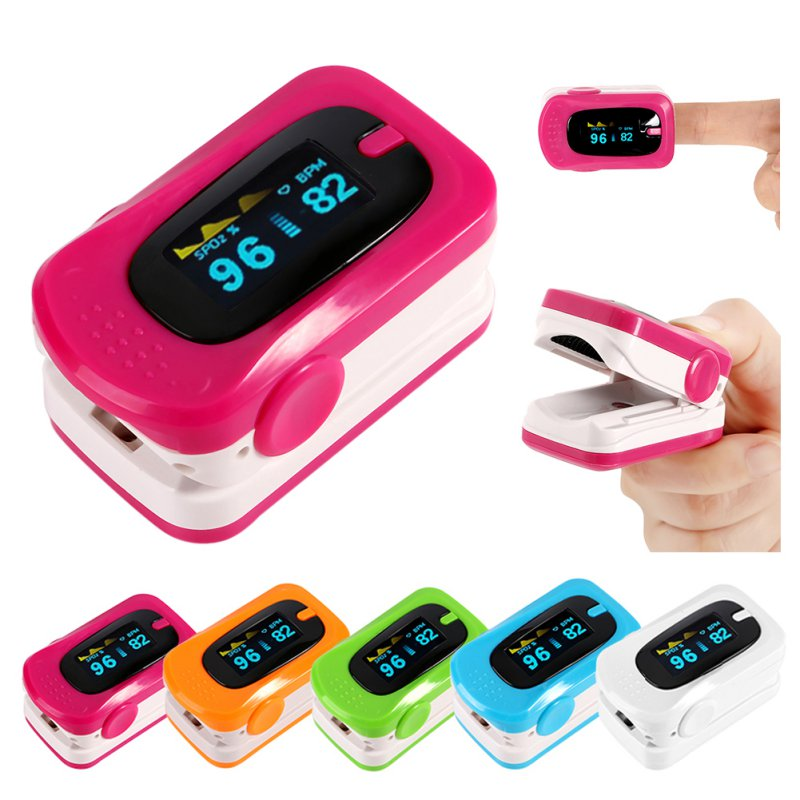 Digital Finger Pulse Oximeter Blood Pressure Monitor Heart Rate Oximeter Portable Diagnostic-Tool Medical Equipment