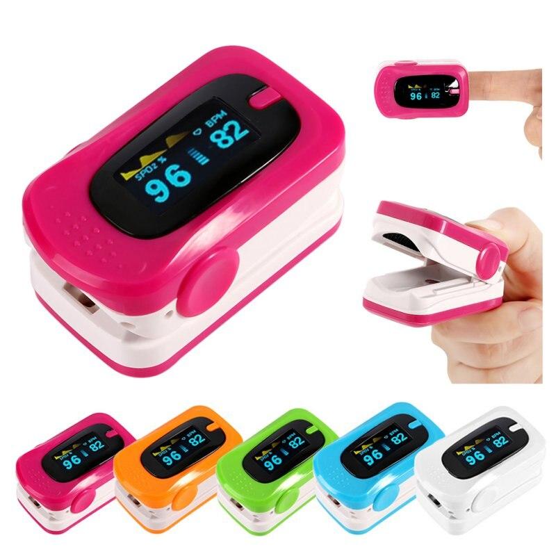 Digital Finger Pulse Oximeter Blood Pressure Monitor Heart Rate Oximeter Portable Diagnostic-Tool Medical Equipment