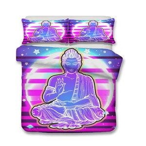 Image 2 - Jogo do Fundamento 3D Impresso Conjunto Yoga Sete Chakras Têxteis Para o Lar Cama Capa de Edredão para Adultos Roupas De Cama com Fronha # YJ01