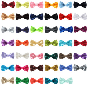 Image 2 - Fashion Plain Polyester Bow Tie Grid Men And Women General Party Neckties Butterfly Bowtie, 1000pcs