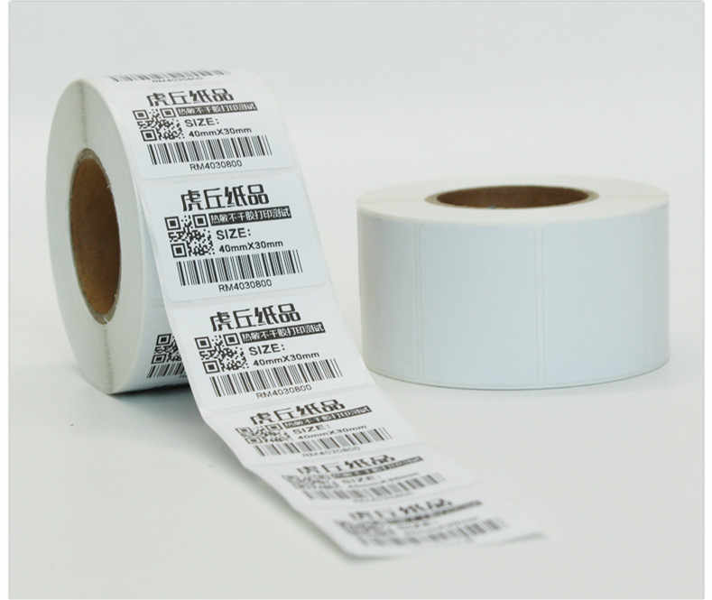 1 rollsPOS label kertas termal 40x30 mmThermal printer Label Thermal tahan air stiker barcode kosong (total 800 label)