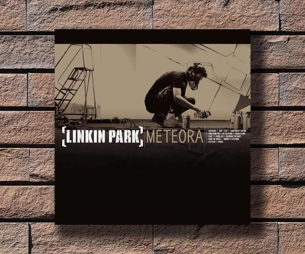 Y456 Linkin Park Meteora Music Rapper Album Cover Hot Poster Art Canvas Print Decoration 16x16 24x24 27x27inch