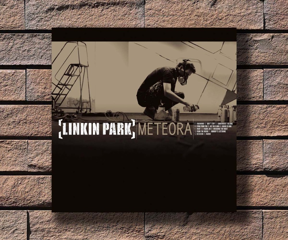 Us 2 72 9 Off Y456 Linkin Park Meteora Music Rapper Album Cover Hot Poster Art Canvas Print Decoration 16x16 24x24 27x27inch In Wall Stickers From