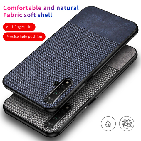 Cotton Cloth Case For Huawei Honor 20 Lite Pro 20I Retra Silicone Fabric Back Cover Honor 20 Lite Case Honor20 Lite Cases 20Lite Pakistan