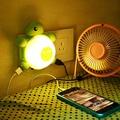 Creative Socket Charging Switch LED Turtle Nightlight Dual Intelligent Light Sensing Voice Control 100V-240V