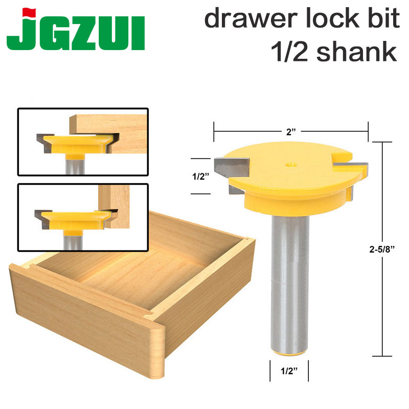 Drawer Front Joint Router Bit Reversible 1-2 ShankShank Woodworking Chisel Cutter-RCT 15390