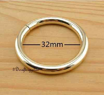 metal O rings O ring purse ring connector light gold 32mm 1 1/4 inch ...