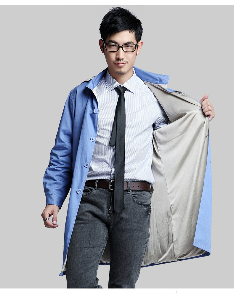 Men style silver fiber double - layer electromagnetic radiation coat with cap , computer room, EMF shielding, RFID block.