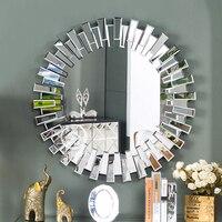 Современные круглый Настенное зеркало трюмо венецианское зеркало настенное декоративные зеркальные art