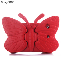 Wholesale 3D Cute Butterfly Shockproof EVA Foam Stand Cover Pad Tablet Protector Case For IPad Mini