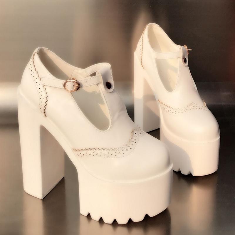 Crudo Negro Sexy Solo Cm Mujer Tacones Elegantes 14 América Super Zapato Temperamento Y Con Europa Plataforma De blanco Impermeable Alta Zapatos xXnHHtfa