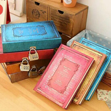Coloffice 1PC Retro With A Lock Diary Password Student Notebook for Drawing Painting Paper Notepad Lock Office School Notebooks