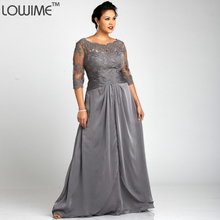 2016 neue Open Back Dunkelgrau Satin Kleid Vestido De Festa Big Plus Size Abendkleid Halbarm Kleider Für Mollige Frauen Prom