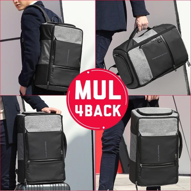 17 inch Laptop Backpack Anti Theft Bag Male Men Bagpack USB 15.6 Notebook Travel Business Backpacks Man Waterproof Outdoor Bags 1