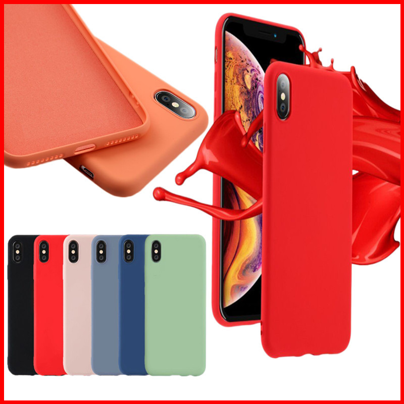 Image 2 - Soft Liquid Silicone Phone Case for iphone X XS MAX XR 7 8 6 6S Plus Soft Gel Rubber Shockproof Cover Full Protective back case-in Fitted Cases from Cellphones & Telecommunications